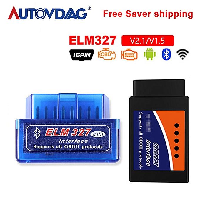 OBD mini ELM327 Bluetooth Wifi OBD2 V2 1 V1 5 Auto Scanner OBDII Car ELM  327 Tester Diagnostic Tool Android Windows Symbian