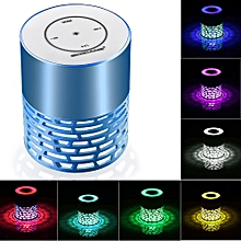 Mini Portable LED Bluetooth Speaker Wireless Bass For Smartphone Tablet PC -Blue