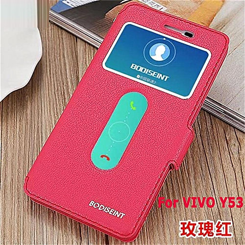 pretty nice d6447 b26c2 VIVO Y53 Flip Cover Clear View Windows Soft Leather Wallet Case Clamshell  Standing Cover Case Full Protection Shockproof Drop Resistance Flip Case ...