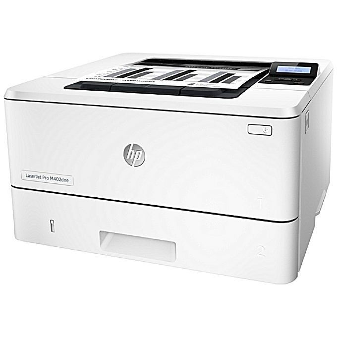 82dad6f55c92 HP LaserJet Pro M402DNE Black & White Duplex Network Printer - White ...