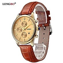 80061 Woman Luxury Brand Quartz Watch Casual Leather Watches Female Watcesh with Date Calendar Waterproof - Gold