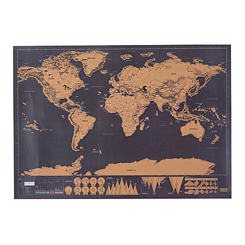 Buy louis will scratch off world map scratch off world travel scratch off world map scratch off world travel tracker poster map 30x425cm gumiabroncs Gallery