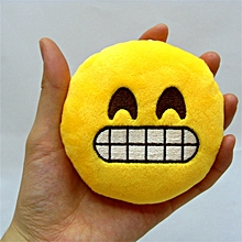 Honana WX-396 4 Inch Toy Novelty Emoji Small Pillow Smiley Face Soft Plush Toys Key Bag Phone Chain