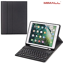 New iPad 9.7 2018 Keyboard Case with Stylus Holder, Ultra-Slim Portable DETACHABLE Bluetooth Keyboard Stand Case for New iPad 9.7 2018/2017/ iPad Pro 9.7/ iPad Air 2/ iPad Air Tablet Mll-S