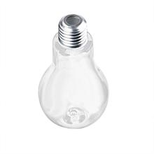 Summer Bulb Water Bottle Brief Cute Milk Juice Light Bulbs Cup Leak-proof C-Clear