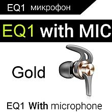Headphones QKZ EQ1 Metal Earphones Half with Microphone Headset Earbuds for phone Xiaomi xYx-S