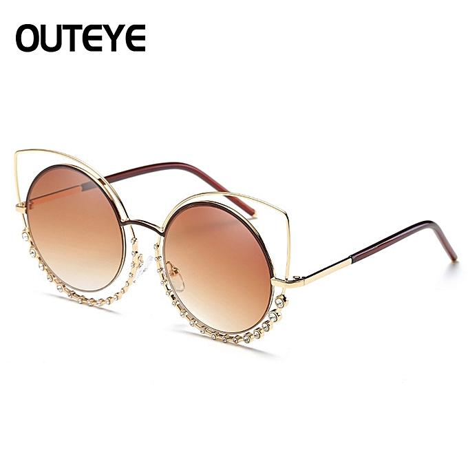 a7a617f12a9 adies Womens Retro Vintage Cat Eye Eyeglasses Round Glasses Fashion  Sunglasses