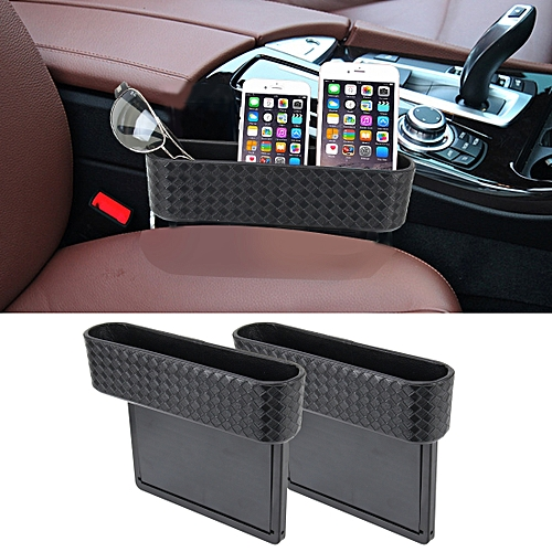 2 PCS Car Seat Crevice Storage Box Cup Drink Holder Gap Pocket Stowing Tidying For Phone