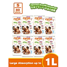 SMALL - Size 2 (3-6kgs) - 10 Diapers (COUNT 80)