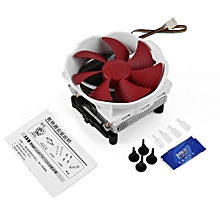 Low Noise PC Cooler High Airflow Computer CPU Radiator 120mm Cooling Fan-white & Red