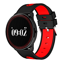 Sport Waterproof Smartband Bluetooth Smart watch Support Heart Rate Monitor Pedometer Wristband for IOS Android - Red