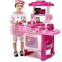 Freebang Pro Pink Kids Kitchen Cooking Pretend Role Toy Play Set Lights Sound Electronic