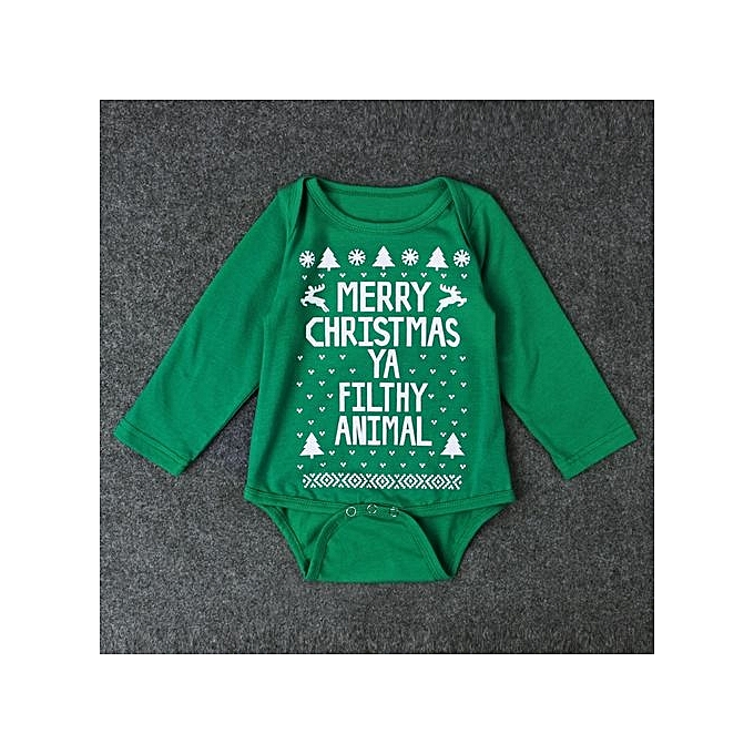 903e2fd071c7 Generic Qute Girl s And Boy s Christmas Romper English Alphabet Long ...