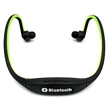 Bluetooth Headset Headphone HandsFree Fashion  Bluetooth High-fidelity Sports Wireless Headphones S9 - Green