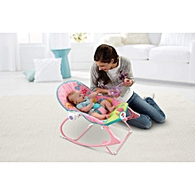 Infant To Toddler Butterfly Baby Rocker ( 0+ months) - (Big Size) Pink