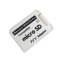 CO Version 5.0 SD2VITA Adapter For PS Vita Memory TF Card for PSVita Game-white