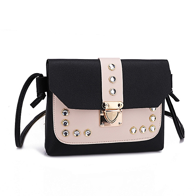 Women Hit Color Rhinestone Shoulder Bag Messenger Satchel Tote Crossbody Bag 00c505c3ffe5