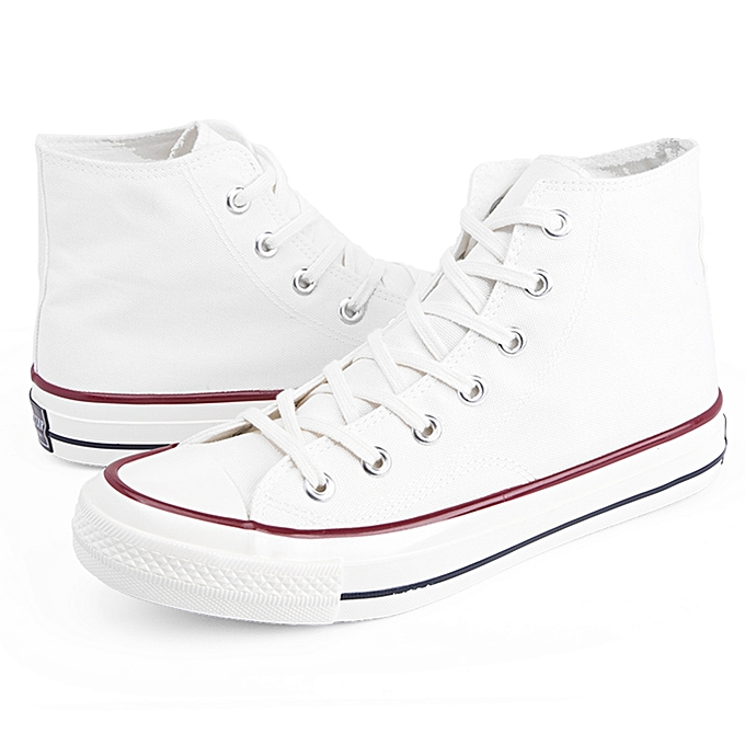 buy generic new style blank canvas high top shoes for men white