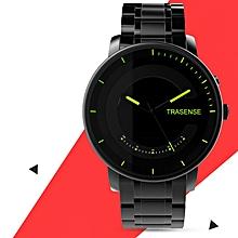 TRASENSE H03 N Luminous Smart Quartz Watch Milanese Stainless Steel Strap Call Reminder Smart Watch