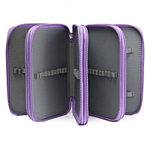 Multilayer High Capacity Pen Pencil Case Box Stationary School Supplies Purple (Intl)