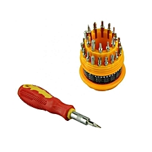 31-In-1 Precision Handle Screwdriver Set - Sliver & Yellow