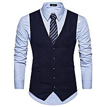 Autumn Tailored Suit Waistcoat Men Slim Fit Vest