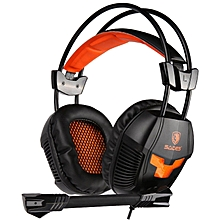 Sades SA-921 Stereo Gaming Headphones for a Mobile Phone PS4/Xbox 360/MAC/PSP/Laptop PC Gamer Headset Gaming Headphone with Mic black orange
