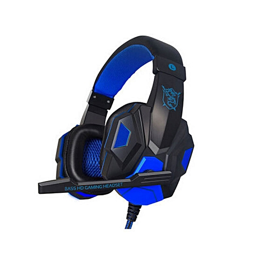 LEBAIQI PC780 Casque audio PC Gaming Headphone with Mic Stereo Bass(Blue Black)