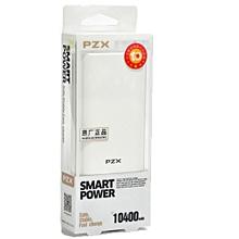 10400 Mah Portable Smart Power Bank with FlashLight - White.