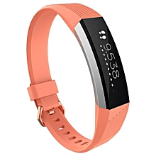 Guoaivo Luxury Silicone Watch Replacement Band Strap For Fitbit Alta HR Wristband OR -Orange