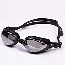 Plating Flat Goggles Large Box Waterproof Anti-fog Swimming Glasses For Men And Women