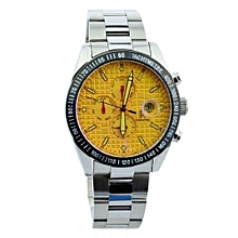 IK Colouring Men's Automatic Watch With Steel Bracelet And Calendar(Gold)