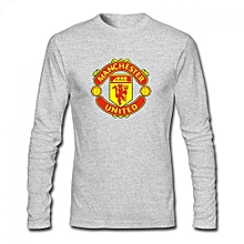 Manchester United Men's Cotton Long Sleeve T-shirt Grey