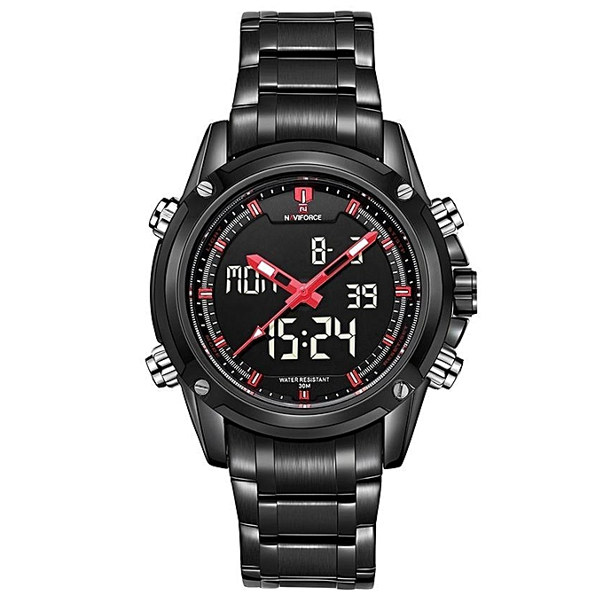 5a092e4c7 NAVIFORCE Men's Quarz Watch Dual Movt [NF9050] -Black+Red @ Best ...