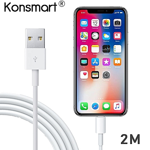 the latest 33ea0 64070 Konsmart 2M USB Cable Cord for iPhone 6s 6 X 8 7 Plus 5s Xr iPad Pro mini  Air iPod Data Cable Charger (2M)