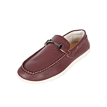 Maroon Casual Shoes With Slipon