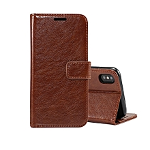 Retro Crazy Horse Texture Horizontal Flip Leather Case for iPhone XS , with Card Slots & Holder & Wallet & Photo Frame (Brown)