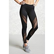 All-matchHot Women Fashion Running Sport Yoga Pants Sexy Tight Mesh Leggings Stretch Trousers