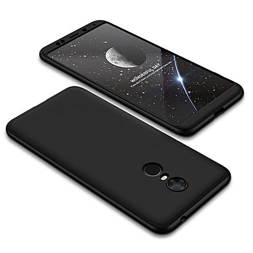 Generic Case For Xiaomi Redmi 5 Plus,GKK 360 Full Body Protective Case Hard Matte Frosted Armor Back Cover For Xiaomi Redmi 5 Plus 618936 (Black)