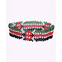 Bracelet  African Beaded Non Elastic Kenyan Flag Colors Unisex Traditional Wares Office And Casual Handmade Generic
