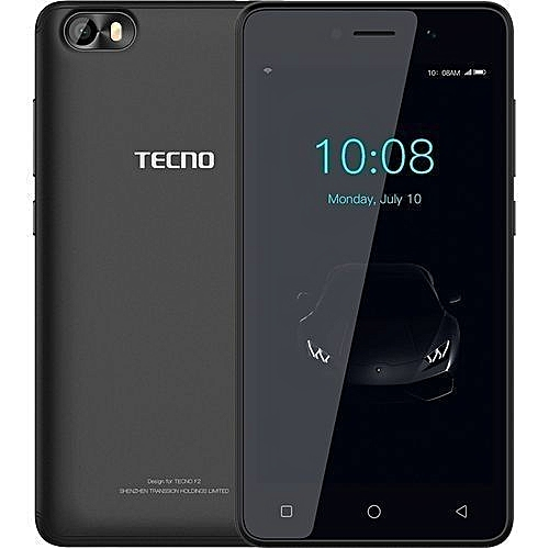 "F1 - [8GB+1GB RAM] - 5.0"" Display - 2000mAh Battery - Dual SIM+ backcover - Elegant Black"