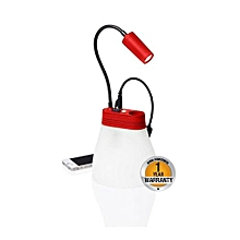 Solar Lamp and Phone Charger - Red
