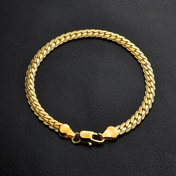 Fashion Por Men Bracelets Gold