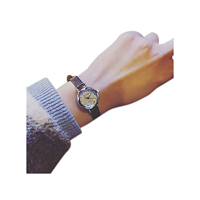 bluerdream-Women Quartz Analog Wrist Small Dial Delicate Watch Luxury Business Watches CO-Coffee
