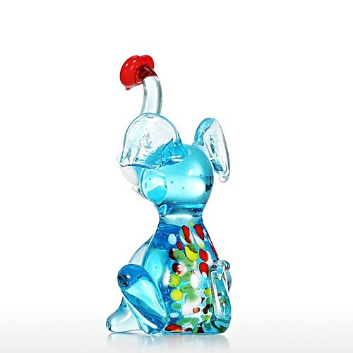 6be3a954 Generic Little Elephant Handmade Hand Blown Glass Art Wild Animal Figurine  Collectible
