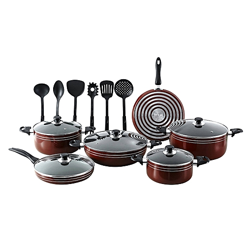 buy generic 17 pc nonstick pots and pans kitchen cookware gift set