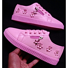 Sneakers Lace Up Breathable Stylish Ladie Sport Pink