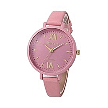 Women's Faux Leather Analog Watch 15624 - Pink