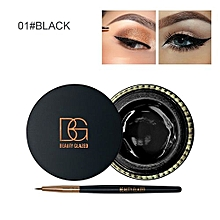Mini Eyeliner Cream With Brush Makeup Cosmetic Black Waterproof Eye Liner A