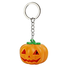 YS - 018 Halloween Pumpkin Glowing Key Ring - Orange
